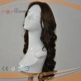 Perruque en soie de cheveux humains de couleur de Brown première (PPG-l-0881)