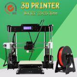 Imprimante 3D de bureau de la meilleure feuille acrylique de valeur de prix bas d'Anet A8