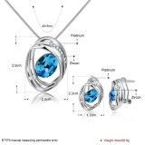 De de Vastgestelde Halsband en Oorringen van de Juwelen van Zircon van het Ontwerp van de manier