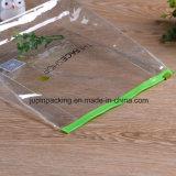 2018の習慣ロゴによって印刷される透過PVCプラスチック装飾的なギフトのパッキング袋(JpPlastic003
