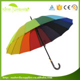 Зонтик вентилятора Sun гольфа способа прямой с Windproof функцией