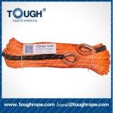 6mm*15m rotes UHMWPE 1/4inch synthetisches elektrisches Handkurbel-Seil mit Edelstahl-Muffe, Enden-Verschluss mit Stock-Brücke