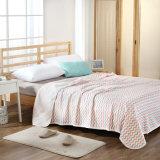 Édredon 100%Cotton tricoté de textile pour le rose d'été