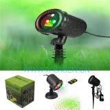 Licht van de Laser van de Glimworm van Red&Green het Bewegende Openlucht, Projector van de Laser van Kerstmis van de Laser de Lichte, Openlucht