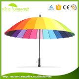 Parapluie droit de ventilateur de Sun de golf de mode avec la fonction protégeant du vent