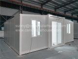 20-футовый контейнер на место с возможностью расширения с 2 спальнями, ванной комнатой и кухней