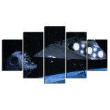 5 قطعات [ستر ور] موت نجم نجم مدمّر حديثة بيتيّة جدار زخرفة نوع خيش صورة فنّ [هد] طبق صورة زيتيّة على نوع خيش عمل فنّيّ
