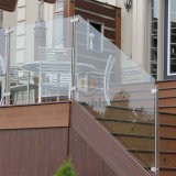 """Inferriata di vetro della scanalatura a """"u"""" del balcone della Camera della villa/balaustra di vetro d'acciaio"""