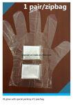 Wegwerf1 Paar/Zipbag PET Handschuh