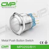 25mm IP67は電気押しボタンスイッチを防水する