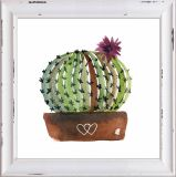 Kugel-Kaktus-Ausgangsdekorativer Segeltuch-Drucken-Handfarbanstrich