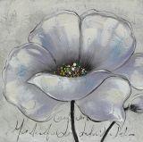 Peinture à l'huile fabriquée à la main de floraison ordinaire de la fleur 100%