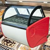 Gelato Bildschirmanzeige-Schaukasten-/Eiscreme-Schaukasten-Gefriermaschine/italienischer Eiscreme-Schaukasten