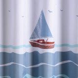 Непахучий водоустойчивый занавес ливня ванной комнаты полиэфира (17S0055)