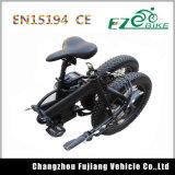 Bicicleta elétrica de dobramento do pneu gordo