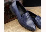 Forma que tende sapatas elevadas dos Loafers do Mens da moeda de um centavo da classe
