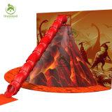 Игровая площадка для установки внутри помещений яркие вулкан скалолазание игры, длинной прямой трубы в результате извержения вулкана слайд