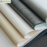 Papel pintado material natural usado comercial de la textura del papel de empapelar de la tela para el proyecto del hotel
