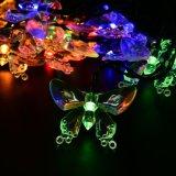 Lumière solaire colorée 20LED/30LED de chaîne de caractères du guindineau DEL pour la quirlande électrique de décoration d'usager de festival d'arbre de Noël