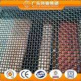 Finestra di alluminio della stoffa per tendine di colore doppio con la rete di zanzara