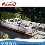 Qualitäts-haltbares Polyester-Gewebe-Teakholz-Sofa populär für im Freienfreizeit-Projekte