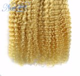 Волосы девственницы Remy нового выдвижения человеческих волос звезды белокурого Kinky курчавого естественные бразильские