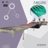 ASAの波形を付けられるPMMAによって塗られるプラスチックPVCか台形または波または突き出る透過か半透明なまたはRroofタイルまたはシートの放出の生産押出機ラインを作る