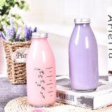 500ml Le flacon en verre de boisson de jus de lait avec couvercle de joint