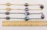 大きいバロック式の真珠のネックレス