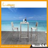Hotel-/Ausgangsfreizeit-Tisch und Stuhl-moderner Aluminiumstab-gesetzte im Freiengarten-Patio-Möbel