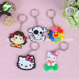 50 types de promotion de style cartoon Key Ring PVC Chaîne de clé