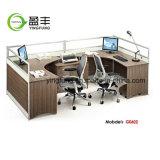 나무로 되는 가구 사무실 워크 스테이션 모듈 사무실 책상 Yf-G1004