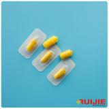 Casquillo disponible transparente amarillo de la heparina del uso médico