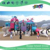 Outdoor Cartoon dirigeable bleu et vert en acier galvanisé l'équipement de terrain de jeux pour enfants (HG-10302)