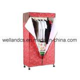 OEMの携帯用ワードローブラックIkeaの寝室の金属の衣服の戸棚のオルガナイザー