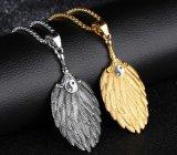 Oro punky/collares de plata de los colgantes del encadenamiento de conexión del acero inoxidable del encanto 316L del ventilador de la pluma del Tai Ji del color para los collares del varón de los hombres