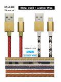 Фги сертификацию завода кабель молнии кожаные куртка iPhone кабель зарядного устройства USB-кабель для iPhone X, 8, 7, 7, 6, 6, 5, 5c, 5s, Se, iPad и iPod Nano