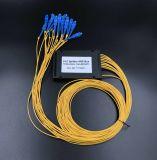 Sistemi del divisore del PLC della fibra colorati telecomunicazione 1X8 di Gpon