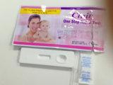 Diagnóstico rápido de HCG en orina Prueba de embarazo Cassette de 4,0 mm