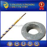 fio elétrico isolado trançado envolvido fibra de vidro do cabo de aquecimento de 350deg c