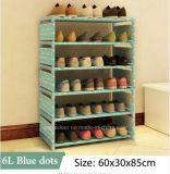 Equipamento para Engraxar os Sapatos de armário de racks de grande capacidade de armazenamento de dados móveis domésticos DIY Rack Sapata portátil simples (FS-06H)