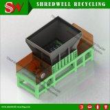 Máquina Shredding dobro de desperdício municipal do eixo para recicl a roupa da sucata/plástico