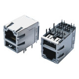 Doppel-weibliche Baugruppe des USB-Verbinder-RJ45 mit Transformator