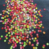 Sortierte bunte runde Nagel-Kunst mischte Größe Paillette Funkeln-Flocken