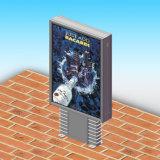 Rectángulo ligero publicitario lateral de Mupi de la calle del doble de aluminio del perfil