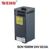 Eisen-Kasten Wechselstrom Stromversorgung zur Gleichstrom-1500W 24V 62.5A