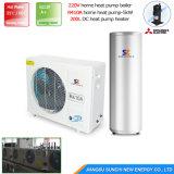 Calentador de agua geotérmico caliente de la pompa de calor de tierra de la agua 10kw/15kw/20kw/25kw