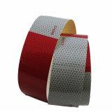 Bande r3fléchissante de PVC de pente blanche rouge de publicité du POINT C2 pour l'avertissement de camion dans l'obscurité