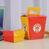 Impresión a todo color el papel de embalaje Caja con asa para el Hamburger