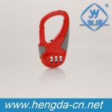 Combinação de 3 dígitos coloridos botão de cadeado de bloqueio da caixa de travamento